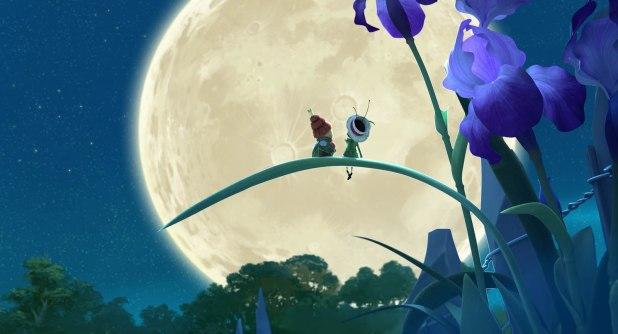 Drôles de petites bêtes Apollon et la Reine devant la Lune