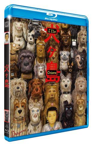 """Visuel du Blu-Ray de """"L'ile aux chiens""""."""
