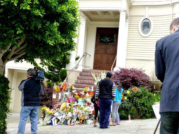 Fleurs devant maison de Mme Doubtfire San Francisco