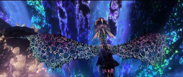 magnifiques couleurs fluorescentes dans dragons 3