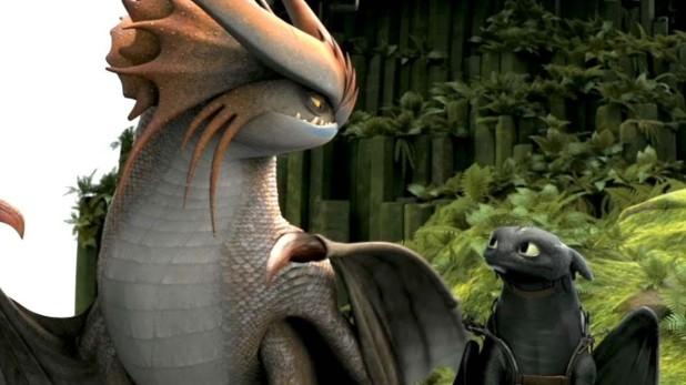 Krokmou et un autre dragon Dragons 2