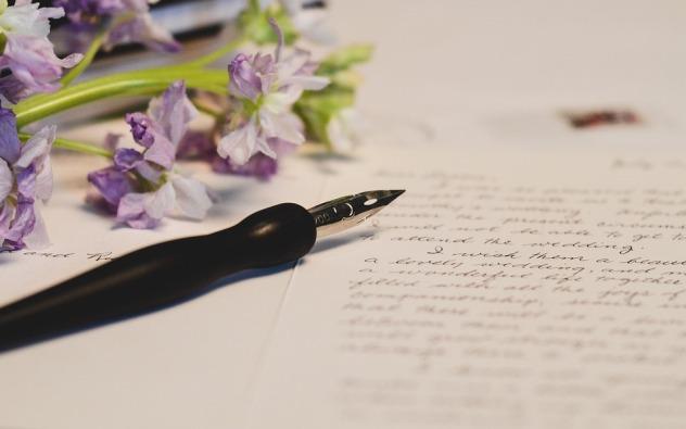 Stylo plume fleur écriture