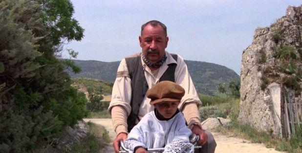 Cinema Paradiso Alfredo et Toto sur le vélo