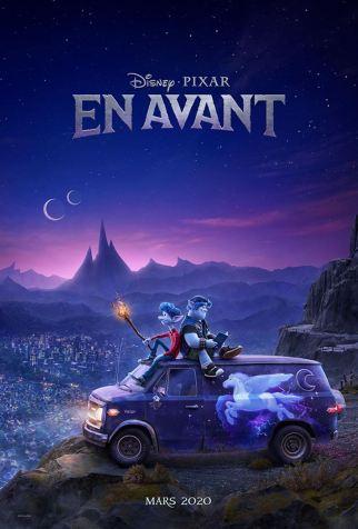 Affiche en avant Pixar sortie 2020