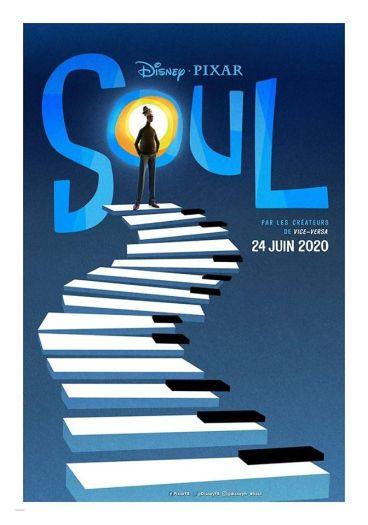 Affiche Soul nouveau Pixar sortie le 24 juin 2020