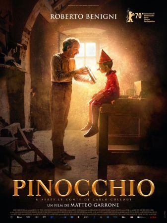 Affiche Pinocchio sortie le 18 mars 2020