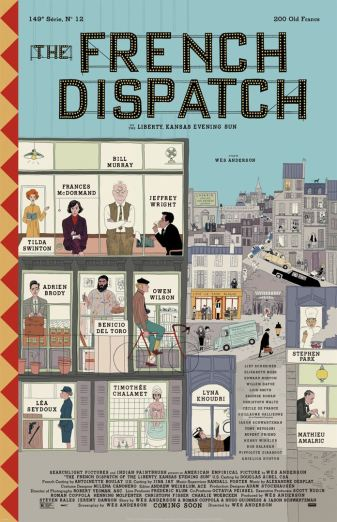 Affiche The French Dispatch sortie le 26 août 2020